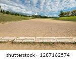 ancient classic greek stadium...   Shutterstock . vector #1287162574