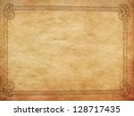 rope border of grey and white... | Shutterstock . vector #128717435