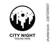 night city logo with building... | Shutterstock .eps vector #1287205837