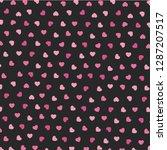 heart icons seamless pattern... | Shutterstock .eps vector #1287207517