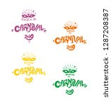 welcome to carnival 2019. a set ... | Shutterstock .eps vector #1287208387