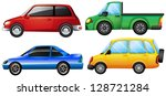 illustration of four cars with... | Shutterstock .eps vector #128721284