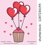 valentines day card with... | Shutterstock .eps vector #1287236194