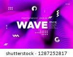 3d distorted wave lines.... | Shutterstock .eps vector #1287252817