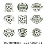 set of isolated soccer badges...   Shutterstock .eps vector #1287253471
