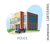 isometric view on police... | Shutterstock .eps vector #1287253501