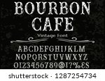 font typeface handcrafted... | Shutterstock .eps vector #1287254734