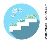 go to zero waste life design.... | Shutterstock .eps vector #1287261874