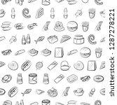 american food  japanese food ... | Shutterstock .eps vector #1287278221