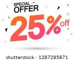 sale 25  off  special offer ... | Shutterstock .eps vector #1287285871