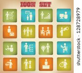 business human resource icons... | Shutterstock .eps vector #128728979