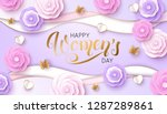women s day greeting card with... | Shutterstock .eps vector #1287289861