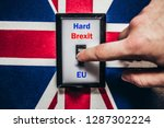 switch with brexit and england... | Shutterstock . vector #1287302224