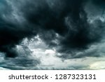 thunder storm sky rain clouds | Shutterstock . vector #1287323131
