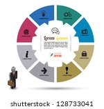 vector circle business concepts ... | Shutterstock .eps vector #128733041