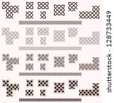 decorative celtic border vector ... | Shutterstock .eps vector #128733449