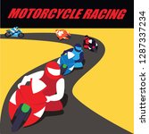 motorcycle racing poster and... | Shutterstock .eps vector #1287337234