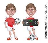 illustration of a football... | Shutterstock .eps vector #128733854
