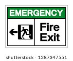 emergency fire exit symbol sign ... | Shutterstock .eps vector #1287347551