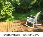peaceful rocking chair on... | Shutterstock . vector #1287349597