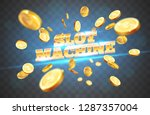 the gold word slot machine  ... | Shutterstock .eps vector #1287357004