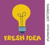 fresh idea. light bulb shape as ... | Shutterstock .eps vector #1287358441