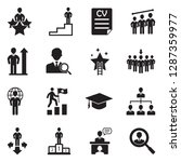 career path icons. black flat...   Shutterstock .eps vector #1287359977