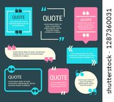 remark quote text box poster... | Shutterstock .eps vector #1287360031