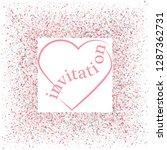 rose gold glitter heart frame.... | Shutterstock .eps vector #1287362731