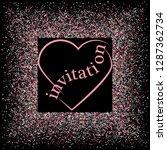 rose gold glitter heart frame.... | Shutterstock .eps vector #1287362734
