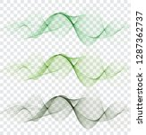 set abstract color wave. color... | Shutterstock .eps vector #1287362737