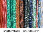 colorful beads background.... | Shutterstock . vector #1287380344