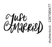 just married. wedding lettering....   Shutterstock .eps vector #1287380677