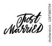 just married. wedding lettering....   Shutterstock .eps vector #1287380704