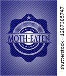 moth eaten emblem with jean... | Shutterstock .eps vector #1287385747