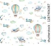 watercolor set background... | Shutterstock . vector #1287406387