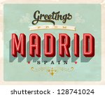 vintage touristic greeting card ... | Shutterstock .eps vector #128741024