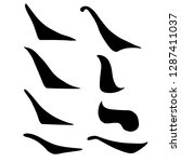 main chinese hieroglyphs... | Shutterstock .eps vector #1287411037