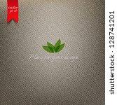 brown fabric texture. vector | Shutterstock .eps vector #128741201