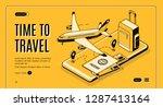 online service  mobile app for... | Shutterstock .eps vector #1287413164