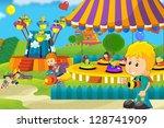 the funfair   illustration for... | Shutterstock . vector #128741909