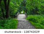 Old Charming Wooden Bridge Ove...