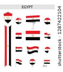 egypt flat flag collection.... | Shutterstock .eps vector #1287422104