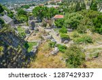 medieval stone fortress is... | Shutterstock . vector #1287429337