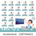a set of business women on desk ... | Shutterstock .eps vector #1287436621