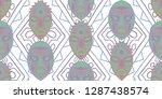 seamless folk pattern. ethnic... | Shutterstock .eps vector #1287438574