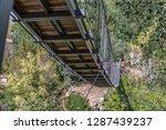 suspension bridge view on... | Shutterstock . vector #1287439237