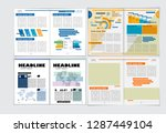 corporate booklet or... | Shutterstock .eps vector #1287449104