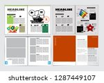 corporate booklet or... | Shutterstock .eps vector #1287449107