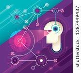 conceptual technology... | Shutterstock .eps vector #1287449437